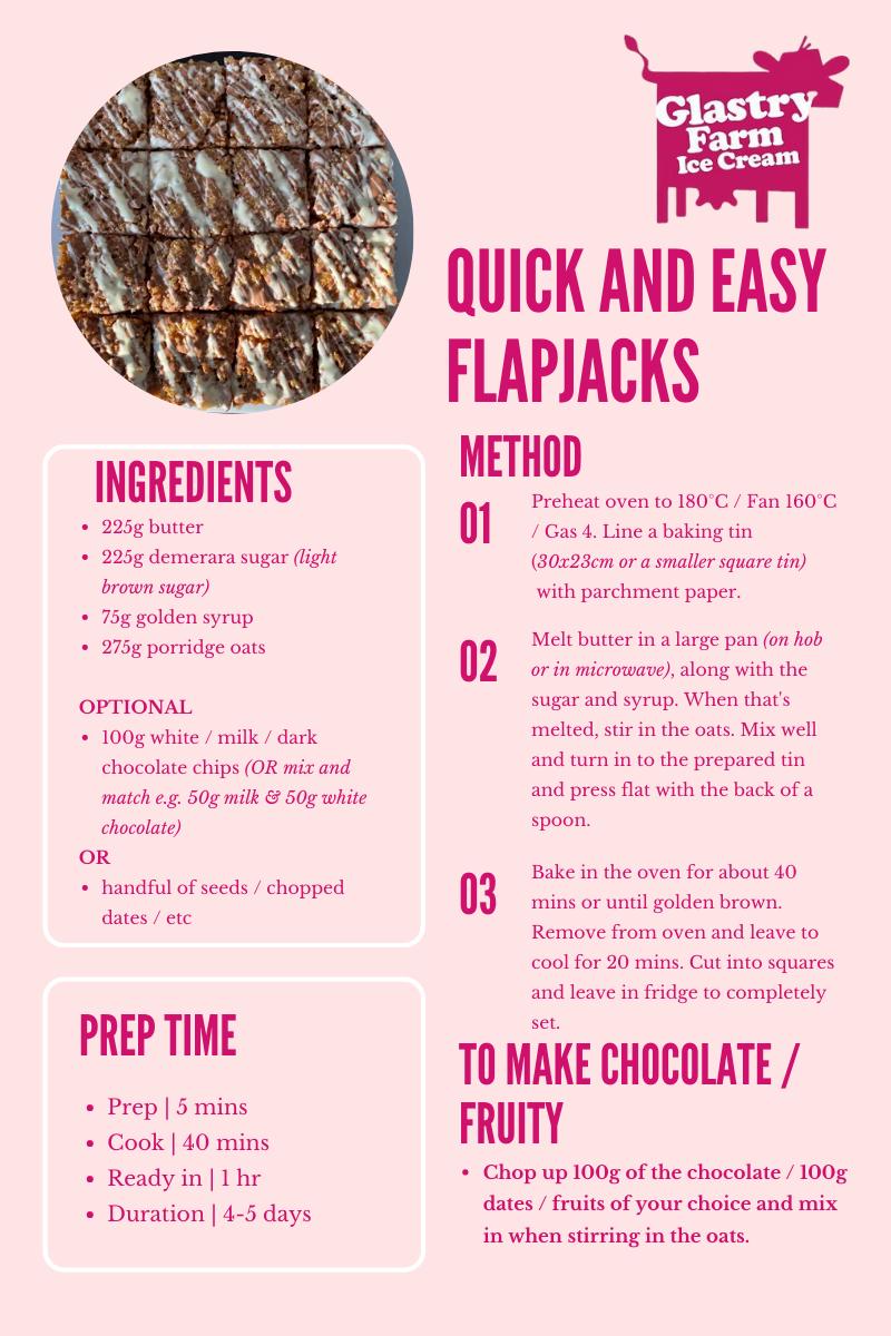 Flapjacks Recipe